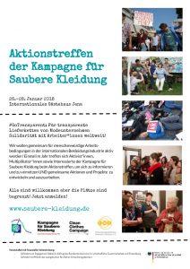 26. – 28. Januar: Aktionstreffen der Kampagne für saubere Kleidung